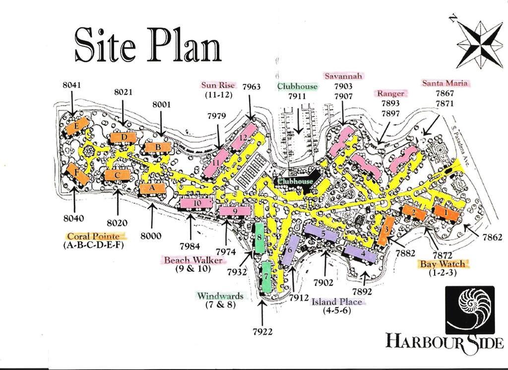 Site Plan Harbourside Condos